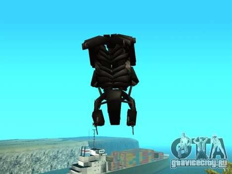 The Dark Knight Rises BAT v1 для GTA San Andreas вид сбоку