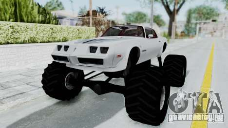 Pontiac Firebird Trans Am Monster Truck 1980 для GTA San Andreas