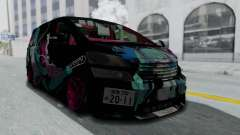 Toyota Vellfire Miku Pocky Exhaust Final Version для GTA San Andreas