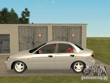 Daewoo Lanos (Sens) 2004 v2.0 by Greedy для GTA San Andreas вид сзади слева