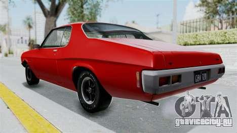 Holden Monaro GTS 1971 AU Plate HQLM для GTA San Andreas вид сзади слева