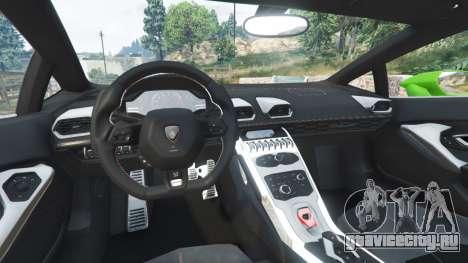 Lamborghini Huracan LP 610-4 2016 для GTA 5 вид сзади справа
