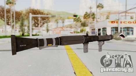 GTA 5 Rocket Launcher Shark mouth для GTA San Andreas третий скриншот