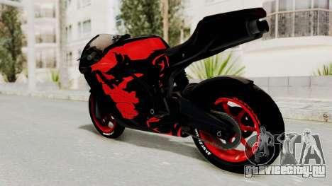 Bati Batik Hellboy Motorcycle v3 для GTA San Andreas вид слева