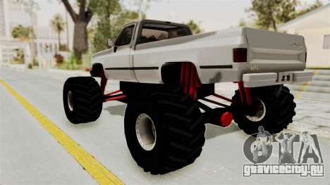 Chevrolet Silverado Classic 1985 Monster Truck для GTA San Andreas вид слева
