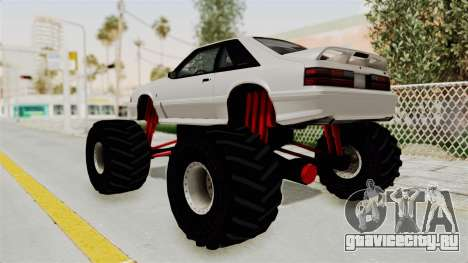 Ford Mustang 1991 Monster Truck для GTA San Andreas вид слева