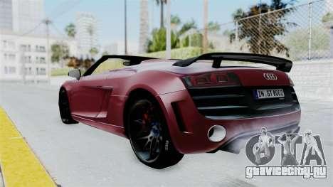 Audi R8 Spyder 2014 LB Work для GTA San Andreas вид слева