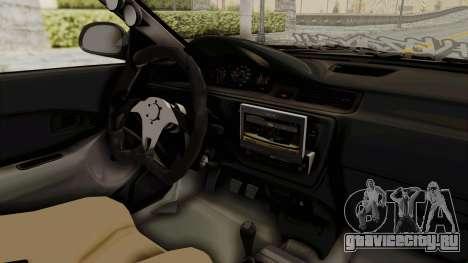 Honda Civic Hatchback 1994 Tuning для GTA San Andreas вид изнутри