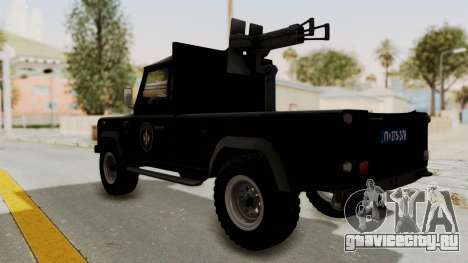 Land Rover Defender SAJ для GTA San Andreas вид слева