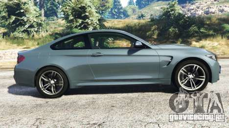 BMW M4 GTS для GTA 5 вид слева