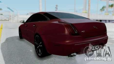 Jaguar XJ 2010 для GTA San Andreas вид слева