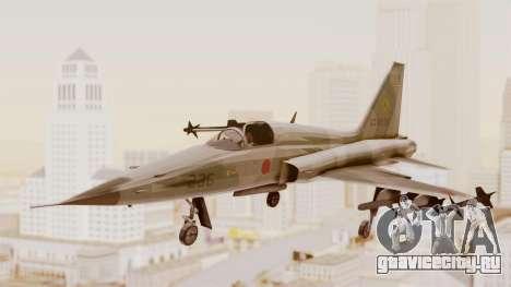 Northrop F-5E Tiger II JASDF для GTA San Andreas вид сзади слева