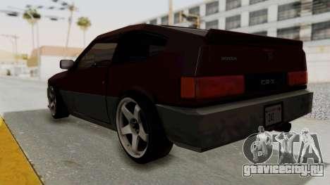 Blista CRX для GTA San Andreas вид слева