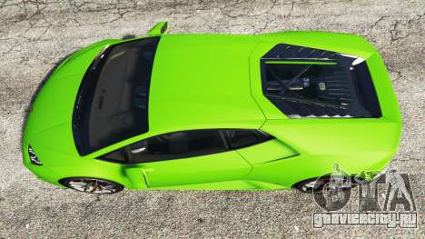 Lamborghini Huracan LP 610-4 2016 для GTA 5 вид сзади