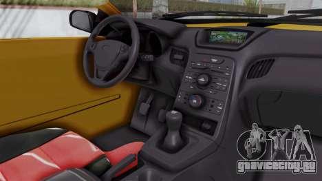 Nissan Maxima Spyder для GTA San Andreas вид изнутри