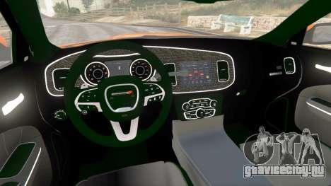 Dodge Charger SRT Hellcat 2015 v1.2 для GTA 5 вид сзади справа