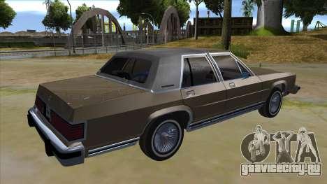 Mercury Grand Marquis 1986 v1.0 для GTA San Andreas вид справа