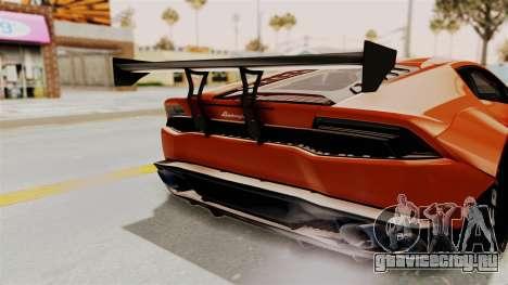 Lamborghini Huracan Libertywalk Kato Design для GTA San Andreas вид сбоку