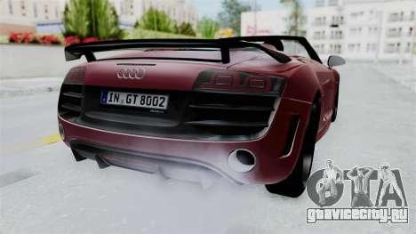 Audi R8 Spyder 2014 LB Work для GTA San Andreas вид справа