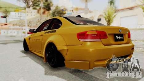 BMW M3 E92 Liberty Walk для GTA San Andreas вид слева