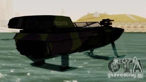 Triton Patrol Boat from Mercenaries 2 для GTA San Andreas вид слева