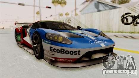 Ford GT 2016 LM для GTA San Andreas вид справа