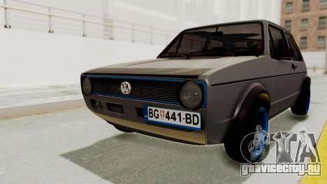 Volkswagen Golf 1 для GTA San Andreas