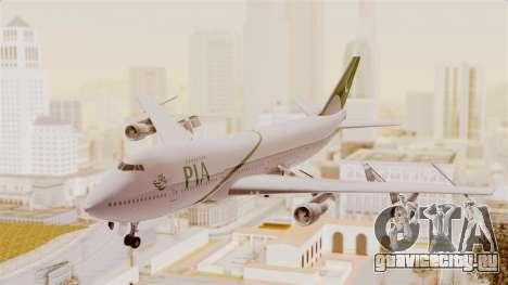 Boeing 747-200 Pakistan International для GTA San Andreas вид сзади слева