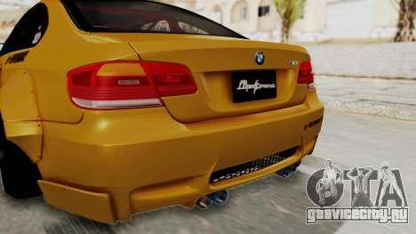 BMW M3 E92 Liberty Walk для GTA San Andreas вид снизу