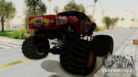 Pastrana 199 Monster Truck для GTA San Andreas вид справа