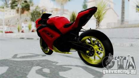 Kawasaki Ninja 250FI Anak Jalanan для GTA San Andreas вид сзади слева