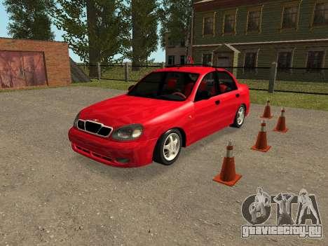 Daewoo Lanos (Sens) 2004 v2.0 by Greedy для GTA San Andreas вид снизу