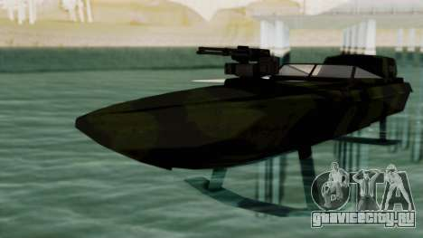 Triton Patrol Boat from Mercenaries 2 для GTA San Andreas вид справа