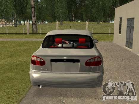 Daewoo Lanos (Sens) 2004 v2.0 by Greedy для GTA San Andreas вид справа