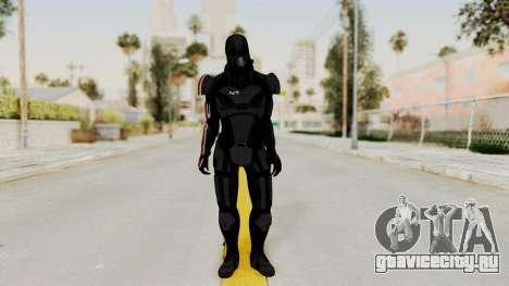 ME2 Shepard Default N7 Armor with Death Mask для GTA San Andreas второй скриншот