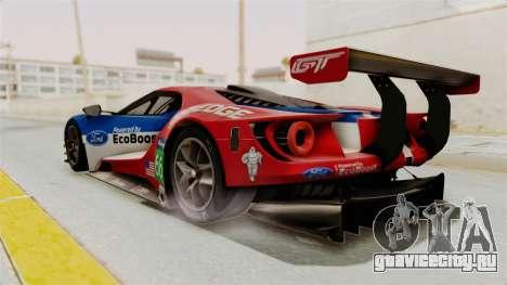 Ford GT 2016 LM для GTA San Andreas вид слева
