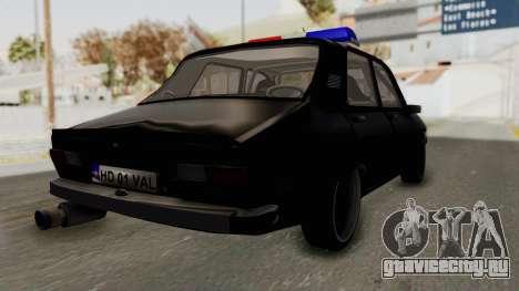 Dacia 1310 TX Turbo Police для GTA San Andreas вид сзади слева