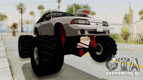 Ford Mustang 1991 Monster Truck для GTA San Andreas вид справа