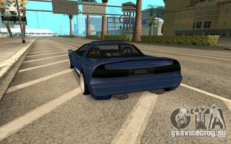 Infernus BlueRay V12 для GTA San Andreas вид сзади слева