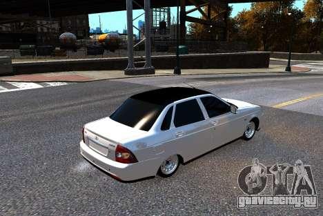 Lada Priora для GTA 4 вид сзади