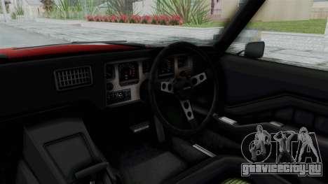 Holden Monaro GTS 1971 AU Plate HQLM для GTA San Andreas вид изнутри