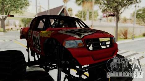 Pastrana 199 Monster Truck для GTA San Andreas вид сзади