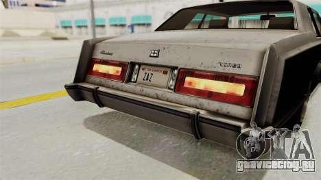 GTA 5 Dundreary Virgo SA Style для GTA San Andreas вид снизу