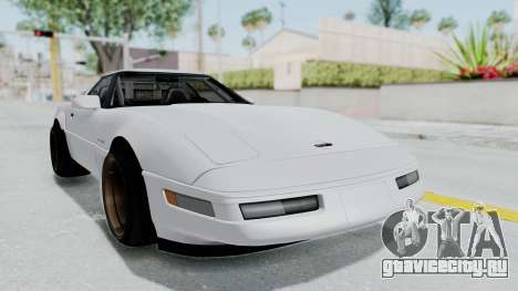 Chevrolet Corvette C4 Drift для GTA San Andreas вид сзади слева