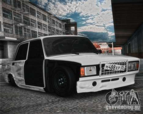 ВАЗ 2107 Бродяга для GTA San Andreas вид сзади слева
