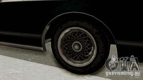 GTA 5 Dundreary Virgo SA Style для GTA San Andreas вид сзади