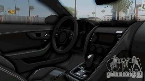 Jaguar F-Type Coupe 2015 для GTA San Andreas вид изнутри
