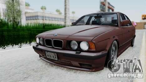 BMW 525i E34 1994 SA Plate для GTA San Andreas вид сзади слева