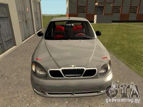 Daewoo Lanos (Sens) 2004 v2.0 by Greedy для GTA San Andreas вид слева