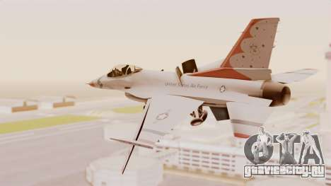 General Dynamics F-16A USAF Thunderbirds для GTA San Andreas вид справа